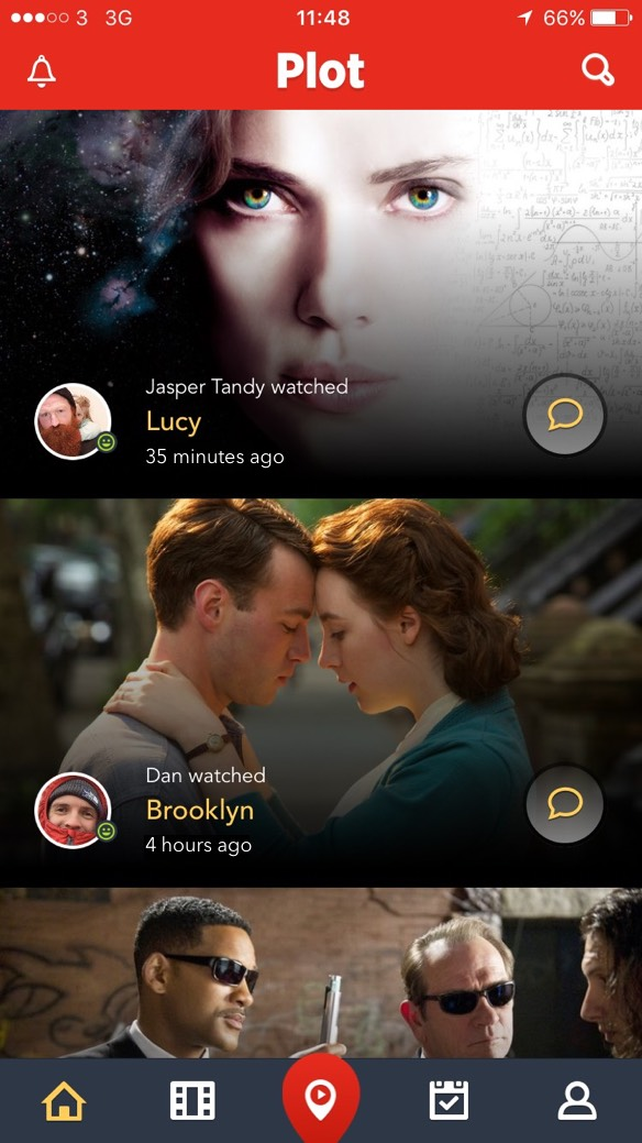 Discover movies on your home feed